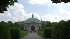 The beautiful Diana Temple in Munich Stock Footage
