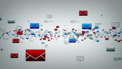 EMails And Text Messages White Stock Footage