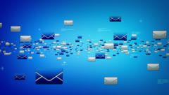 EMails Blue Stock Footage