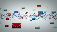 EMails White Stock Footage