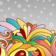 Stock Illustration of multicolor abstract background