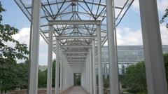 Steel pavilion in the Hofgarten of Munich Stock Footage