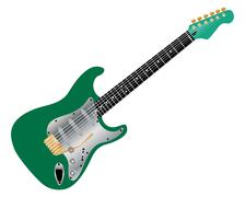 guitar - stock illustration