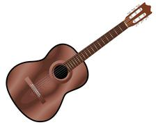 Acoustic guitar Stock Illustration