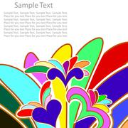 multicolor abstract background - stock illustration