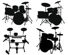 Drums kits Stock Illustration