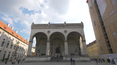 The Field Marshall's Hall in Munich Stock Footage