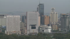 Modern high-rise buildings, Dalian, China Stock Footage