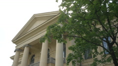 The columns of Prinz-Carl-Palais in Munich Stock Footage