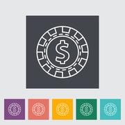 Gambling chips - stock illustration