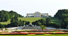 Gloriette, Schonbrunn Palace in Vienna - stock photo