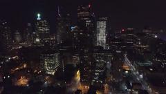 Aerial 4K UHD - Aerial drone view of city highrises with tracking motion Stock Footage