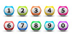 Lottery balls set Kuvituskuvat