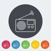 Radio icon - stock illustration