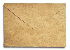 Grunge note paper envelope - stock photo