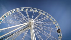 Finnair Sky Wheel attraction in Helsinki Stock Footage