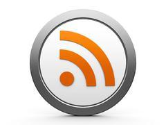 RSS icon - stock photo