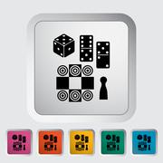 Stock Illustration of Table games