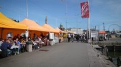 Marketplace Kauppatori at Helsinki Stock Footage