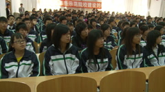 Chinese students listening to lecture, China Stock Footage
