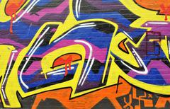 Abstract graffiti wall Stock Photos