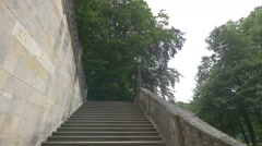 Old stairs in the Maximiliansanlagen, Munich Stock Footage
