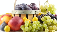 Close view of different fresh fruits Stock Footage