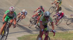 Stock Video Footage of Cycling Competition Sport slow motion
