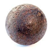 rust cannonball - stock photo