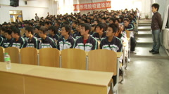 Chinese students, college education, China Stock Footage