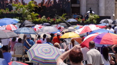 Massive Christian Rally gathering in front of Capitol Building 6 of 6 Stock Footage