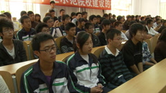 Chinese college lecture, students, China Stock Footage