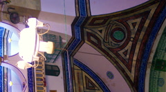 Video of mosque interior shot in Israel. Stock Footage
