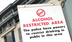 Alcohol restricted area - stock photo