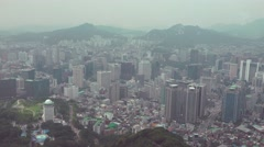 Aerial View of Seoul South Korea 03 - stock footage