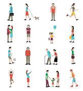 Lifestyle Icons Set - stock illustration