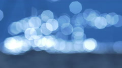 3 in 1 video! Beautiful bokeh by water surface texture background and coast lake Stock Footage