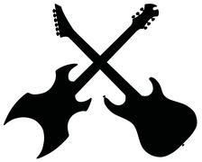 Electric guitars - stock illustration