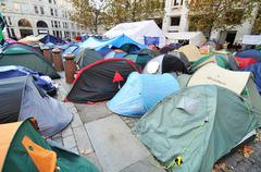 Occupy London - stock photo