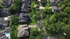 Upscale Neighborhood outside of Houston Stock Footage