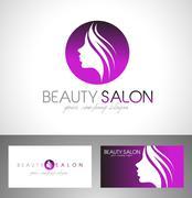 Beauty Salon Logo Stock Illustration