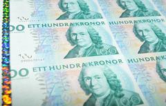 Sweden currency Stock Photos