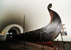 Viking ship - stock photo