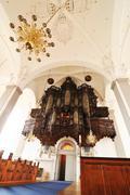 Altar in church - stock photo