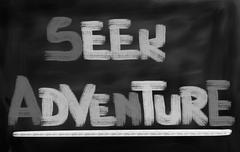 Seek Adventure Concept Stock Illustration