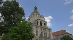 Great view of the Bavarian National Museum, Munich Stock Footage