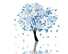 blossom tree - stock illustration