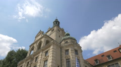 Side view of the Bavarian National Museum, Munich Stock Footage