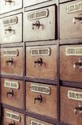 Vintage wooden boxes for medications Stock Photos