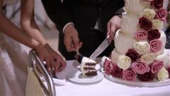 Wedding cake Stock Footage